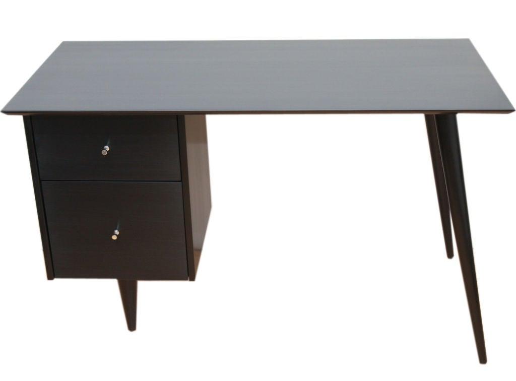 Paul McCobb Planner Group black lacquer desk 4