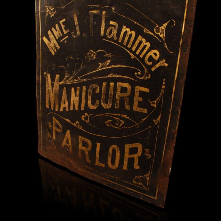 Madame Flammer's Manicure Parlor - Vintage Trade Sign image 7