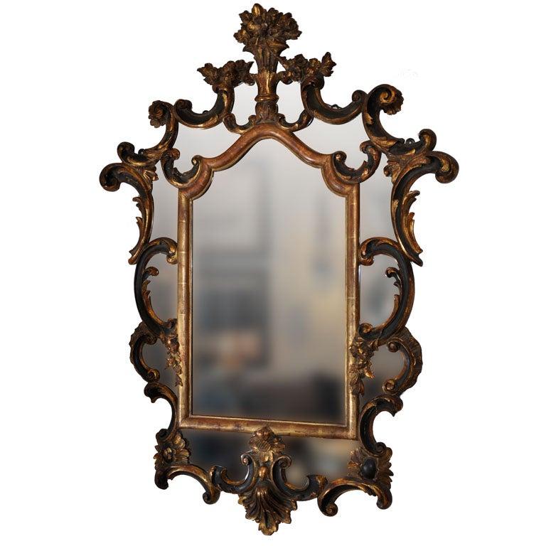 19th century italian baroque style parcel gilt mirror at for Italian baroque mirror