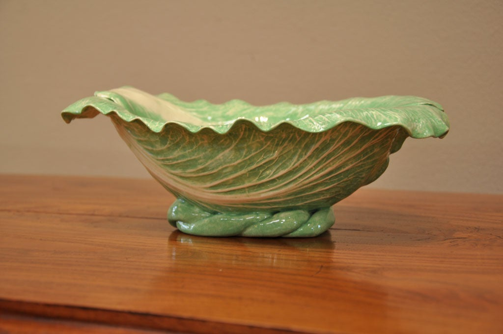 "Dodie Thayer Large ""Cabbage Leaf"" Serving Dish 3"