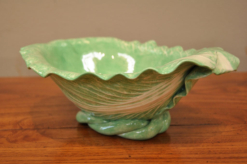 "Dodie Thayer Large ""Cabbage Leaf"" Serving Dish 4"