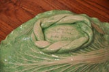 "Dodie Thayer Large ""Cabbage Leaf"" Serving Dish image 7"