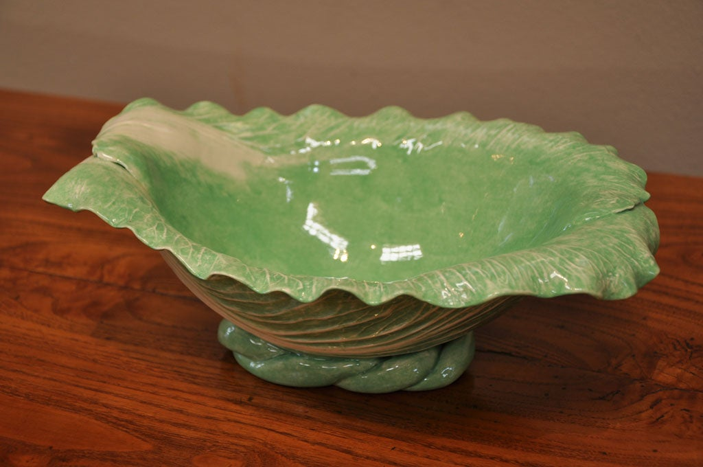 "Dodie Thayer Large ""Cabbage Leaf"" Serving Dish 2"