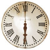 A Large French Metal  Clock Face, Circa 1880