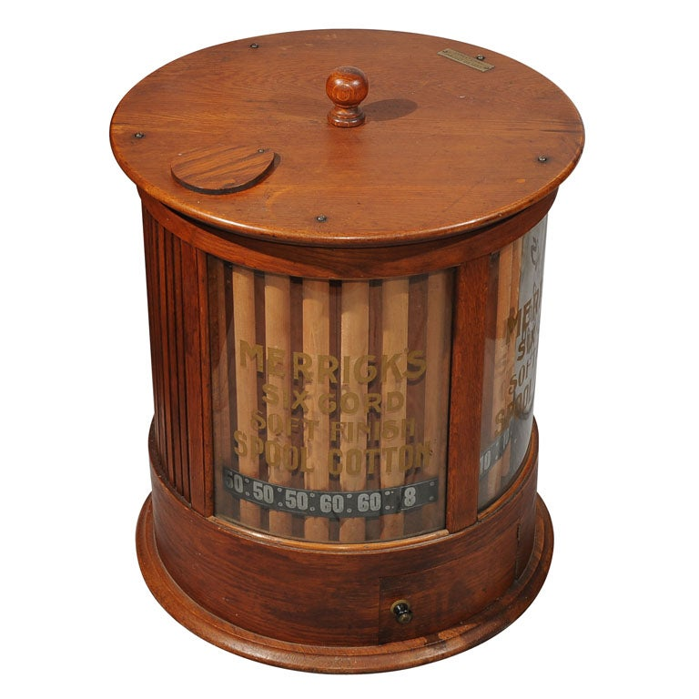 Antique Merrick's Spool Cabinet 1 - Antique Merrick's Spool Cabinet At 1stdibs