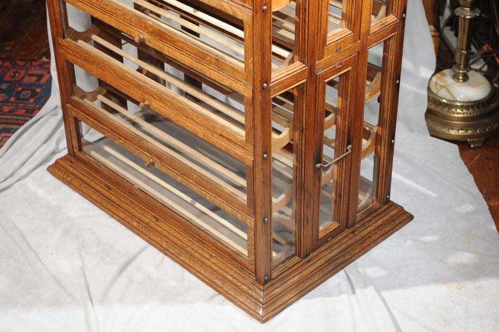 American Oak Ribbon Cabinet/Makes Great Wine Rack For Sale - Oak Ribbon Cabinet/Makes Great Wine Rack At 1stdibs