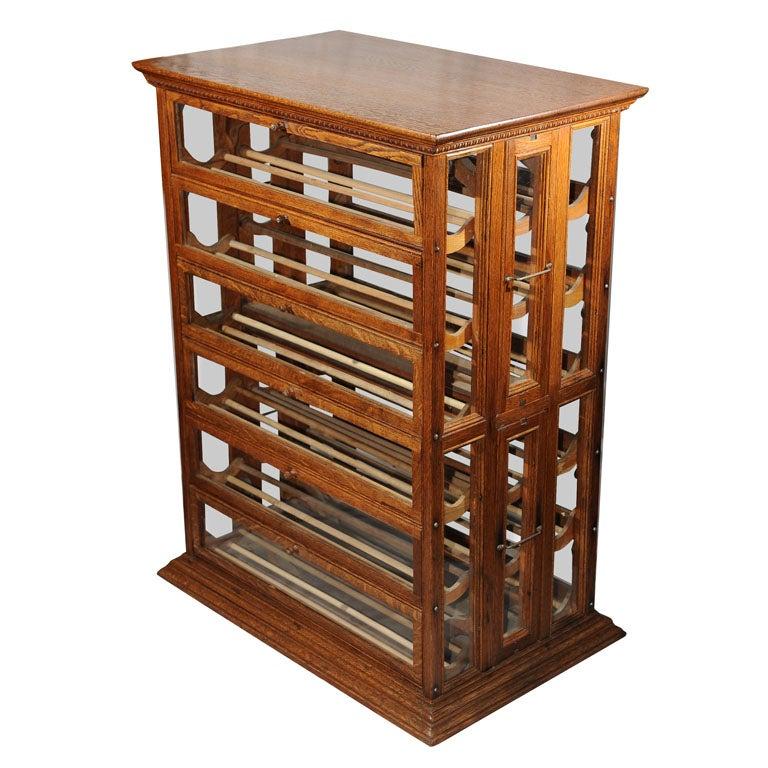 Oak Ribbon Cabinet/Makes Great Wine Rack at 1stdibs