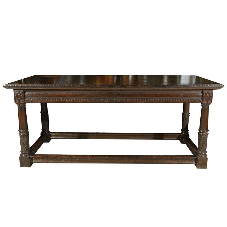 Id F_373241 on Quarter Sawn Oak Library Table