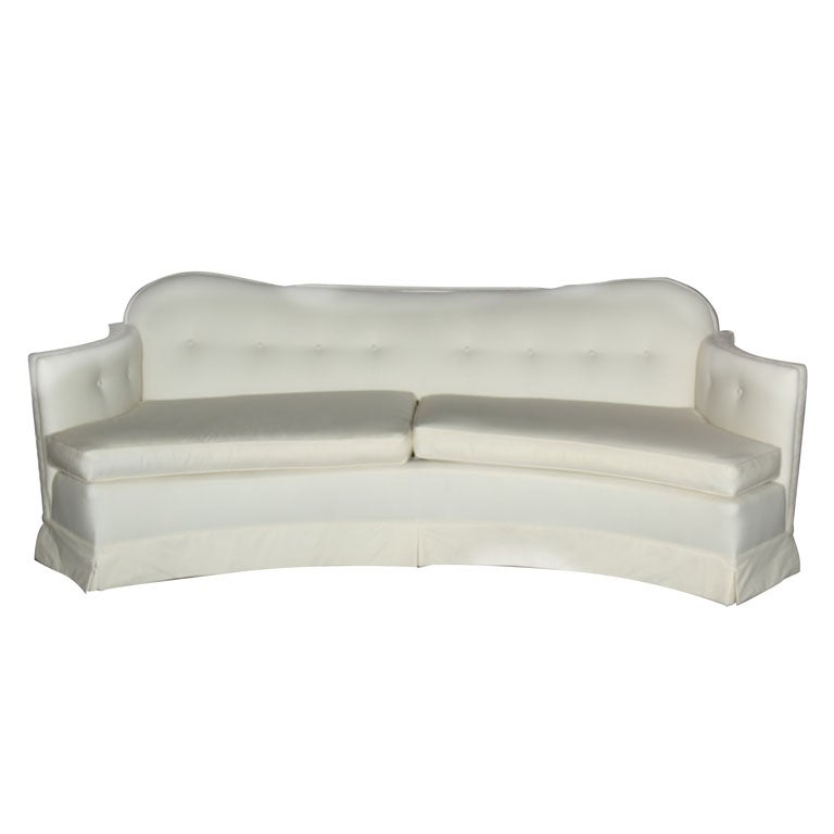 High style couch sofa curved and tufted 1940 39 s 8 feet long for 8 foot couch