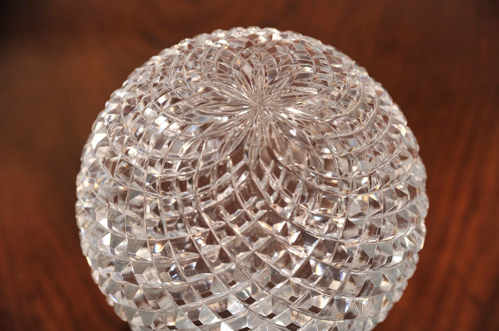 CRYSTAL BALL ON PEDESTAL In Excellent Condition For Sale In New York, NY