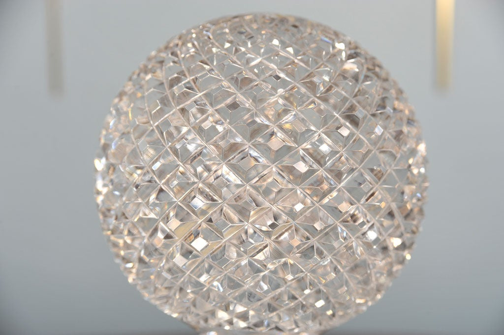 20th Century CRYSTAL BALL ON PEDESTAL For Sale