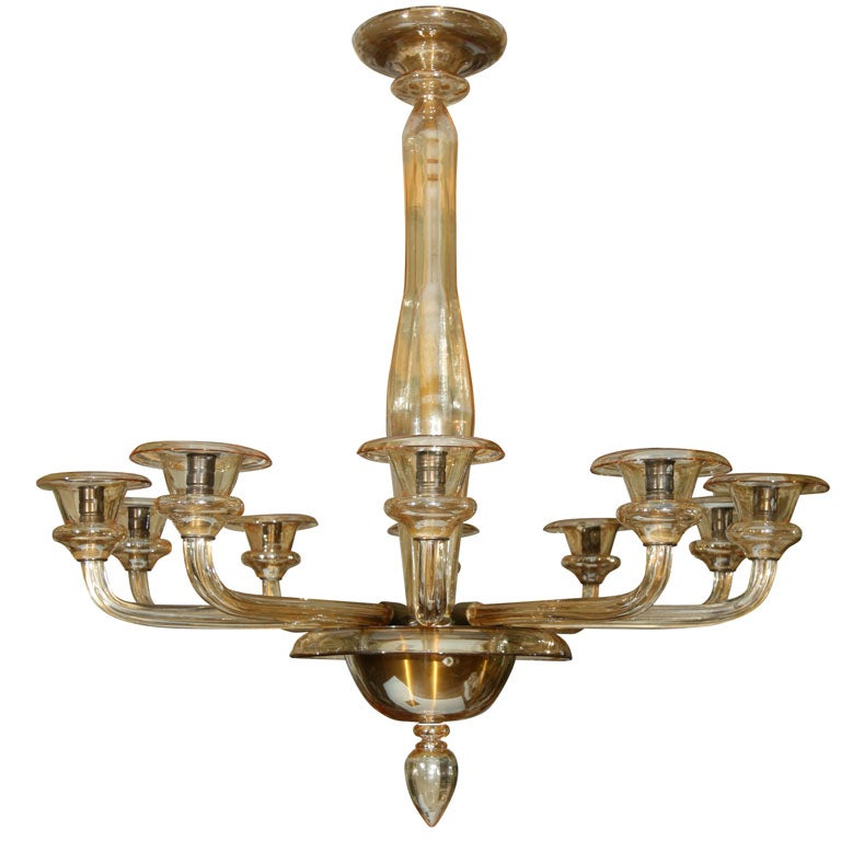 amber murano glass chandelier at 1stdibs