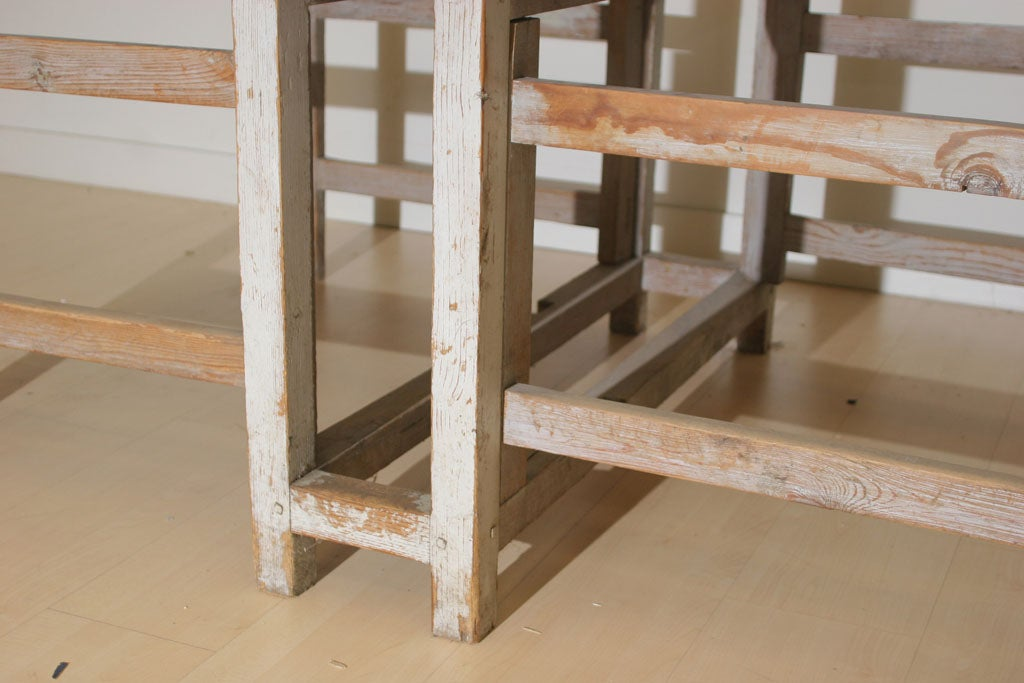 Wood A Swedish Rustic Drop Leaf Table For Sale