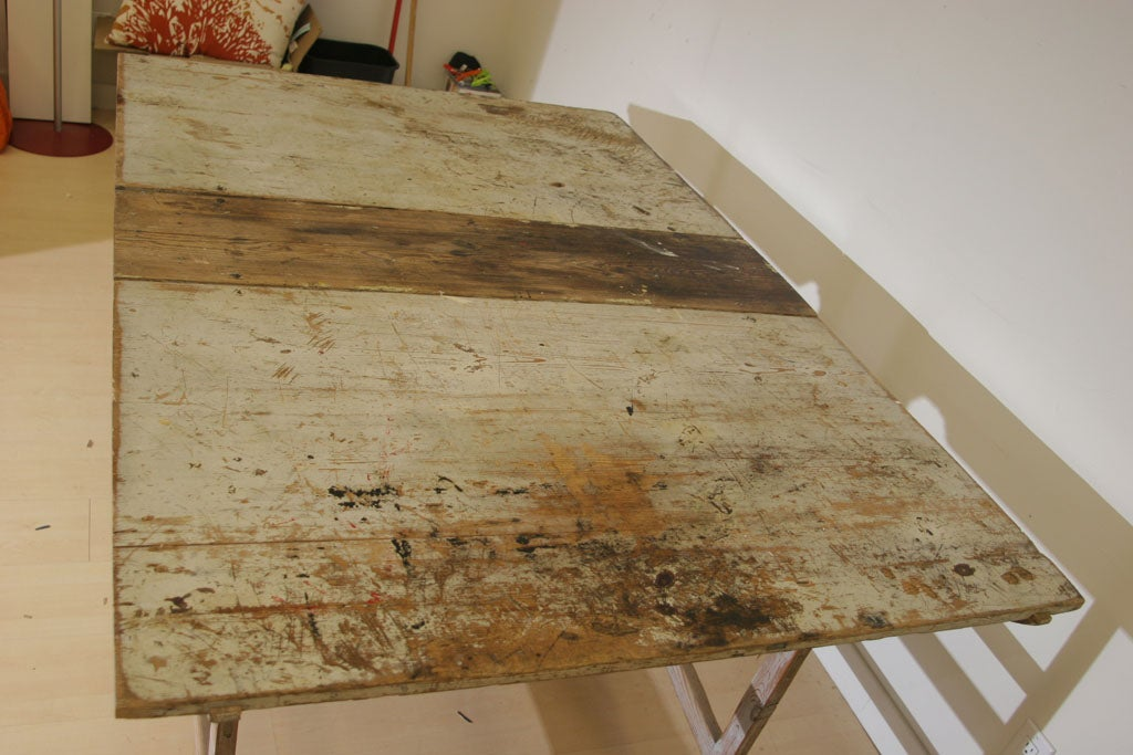 A Swedish Rustic Drop Leaf Table For Sale 4