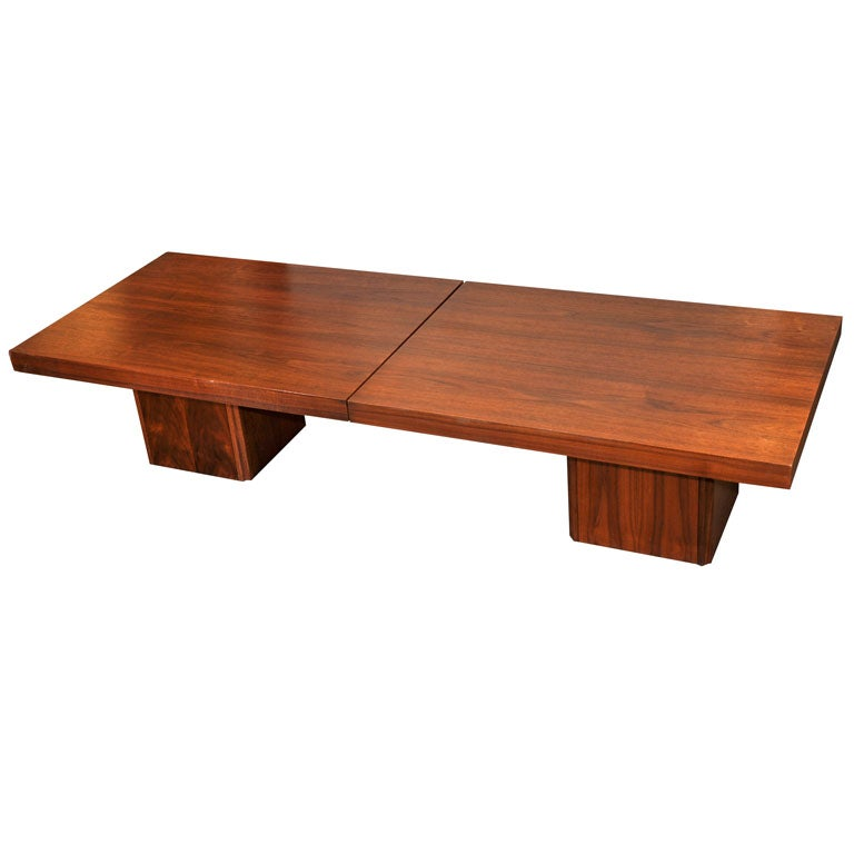 Walnut Slide Top Coffee Table By John Keal For Brown