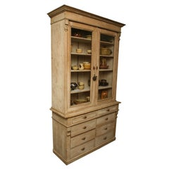 Painted White Pine Buffet a Deux Corps