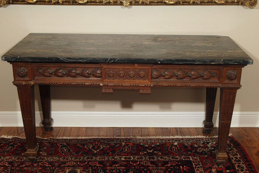 French louis xvi console table with marble top for sale at for Marble table tops for sale