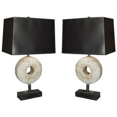 Pair of Stone Fragment Table Lamps