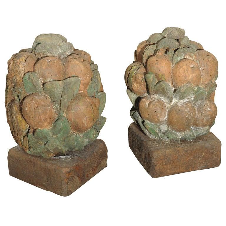 Carved fruit basket at stdibs