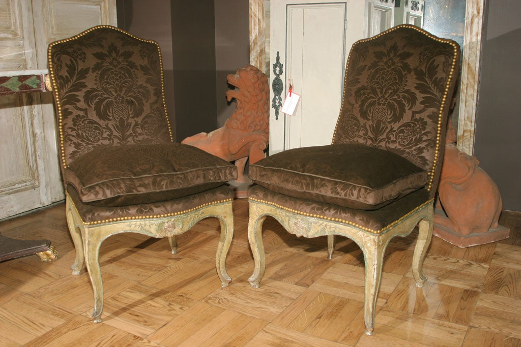 A pair of 18th century louis xv chaise a la reine at 1stdibs - La chaise louis ghost ...