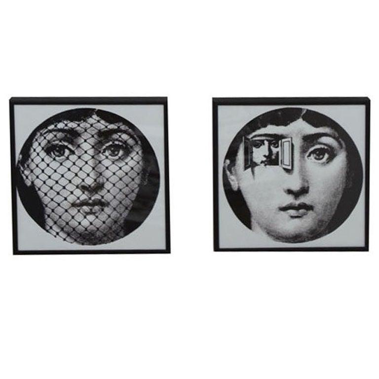 Set Of Two Fornasetti Vintage Wallpaper Samples At 1stdibs