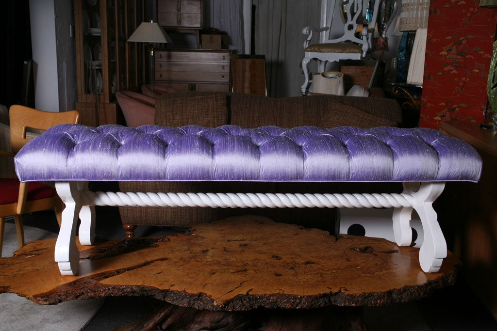 Tufted Hollywood Regency  Bench 3