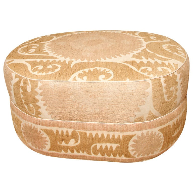 fabric ottomans for sale custom ottoman in vintage suzani fabric on sale at 1stdibs 15187 | x