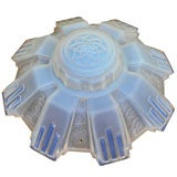 Art Deco Opalescent Glass Ceiling Fixture