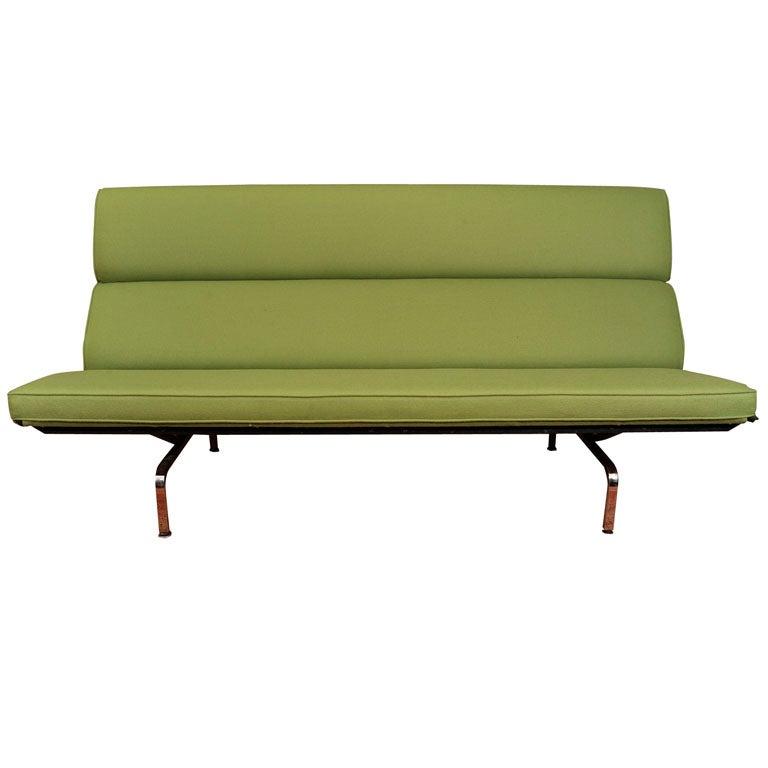charles eames compact sofa in knoll fabric at 1stdibs. Black Bedroom Furniture Sets. Home Design Ideas