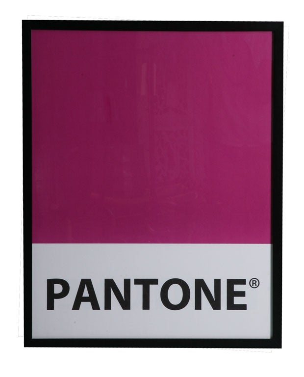 Giant-Sized Framed Pantone Posters 4