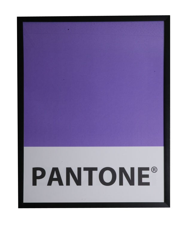Giant-Sized Framed Pantone Posters 7