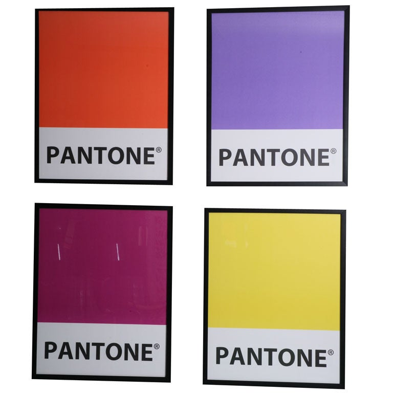 Giant-Sized Framed Pantone Posters