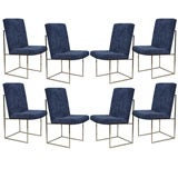 Set of Eight Milo Baughman Dining Chairs