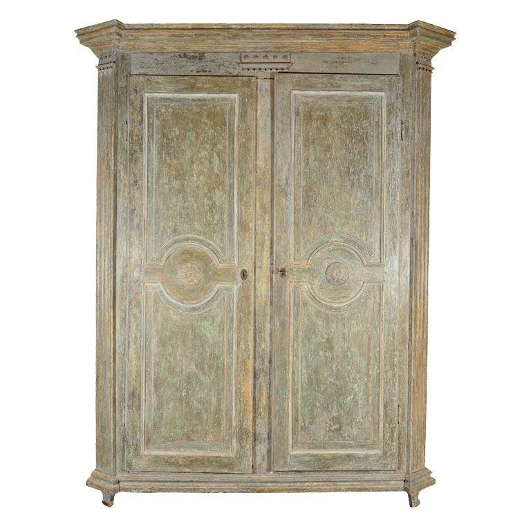 louis xvi painted armoire at 1stdibs. Black Bedroom Furniture Sets. Home Design Ideas