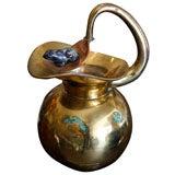 Los Castillo Taxco, brass, stone lapiz, water pitcher