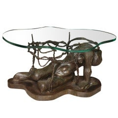Rare and Important Phillip and Kelvin Laverne Bronze Table