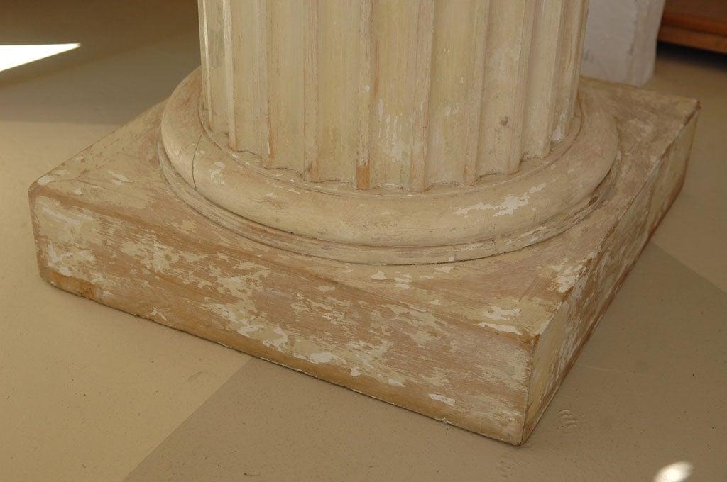 Carved Marble Bust of a Gentleman on Fluted Pedestal For Sale 5
