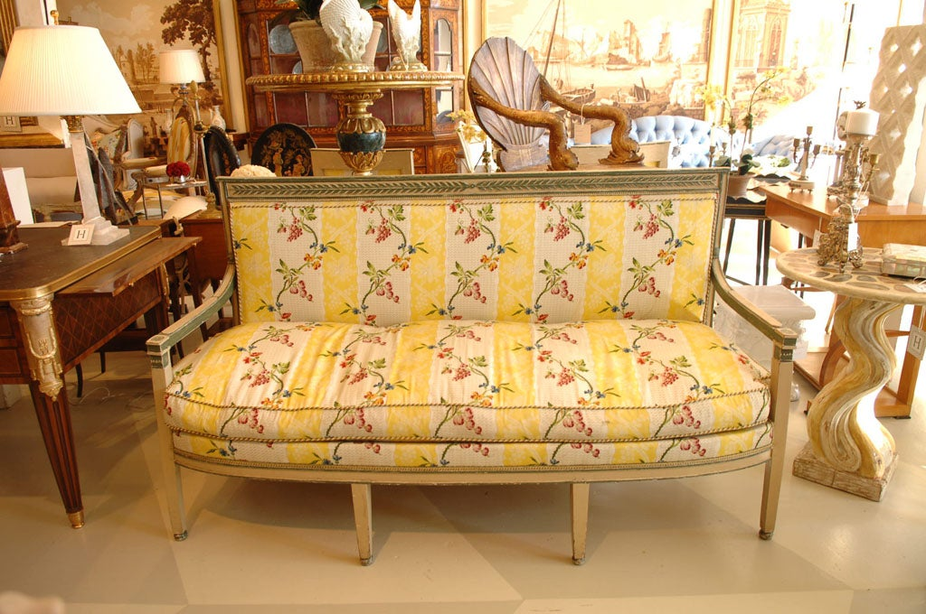 Directoire canape for sale at 1stdibs for Canape directoire