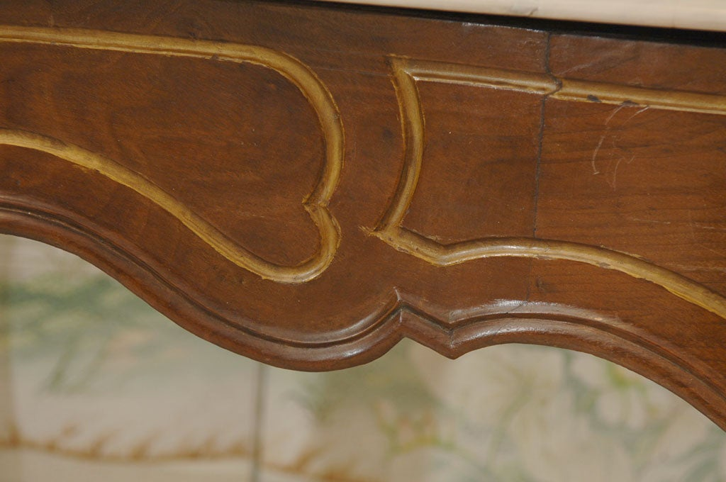 Italian Rococo Style Marble Top Console Table For Sale 4