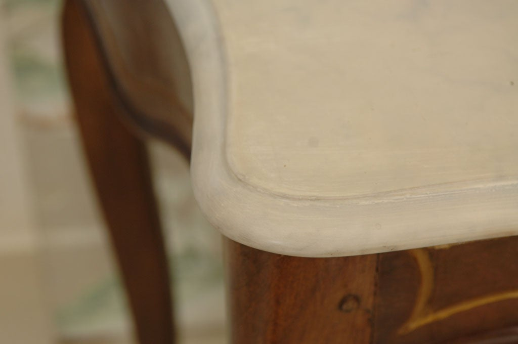 Italian Rococo Style Marble Top Console Table For Sale 5