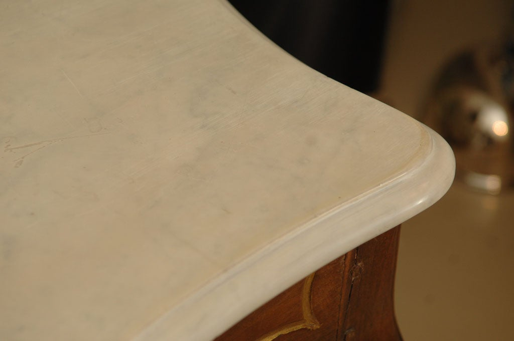 Italian Rococo Style Marble Top Console Table For Sale 6