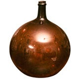 French  amber color wine jar