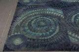 Blue Spiral Rya Rug image 3