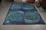 Blue Spiral Rya Rug image 2