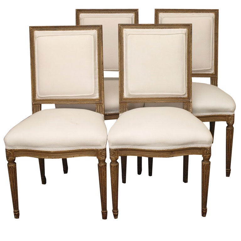 Set Of 8 Louis XVI Style Dining Chairs At 1stdibs