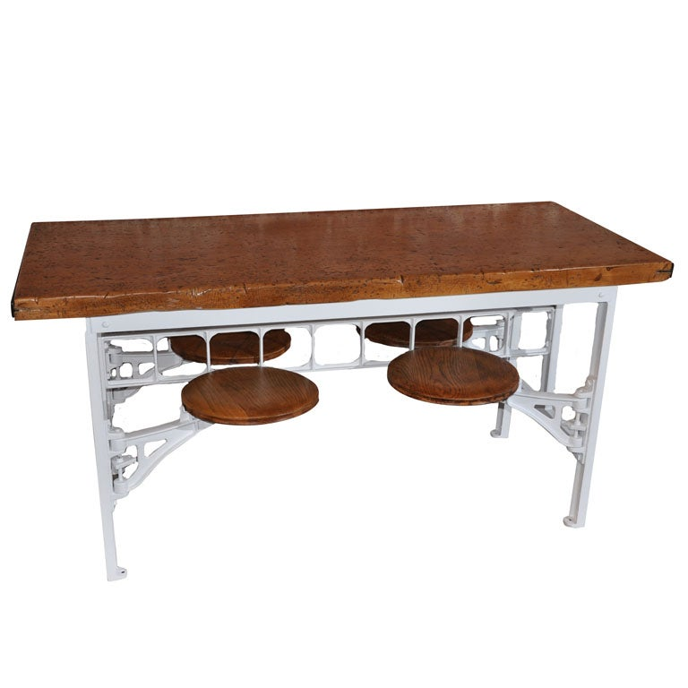 Industrial Factory Cafeteria Table At 1stdibs