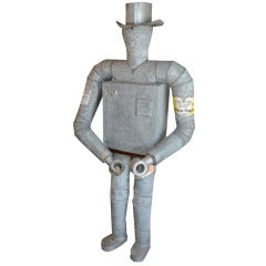 Iconic Life Size American Tin Man Trade Sign