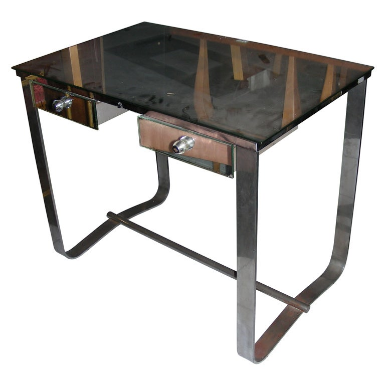 1930s Desk By Jacques Adnet At 1stdibs