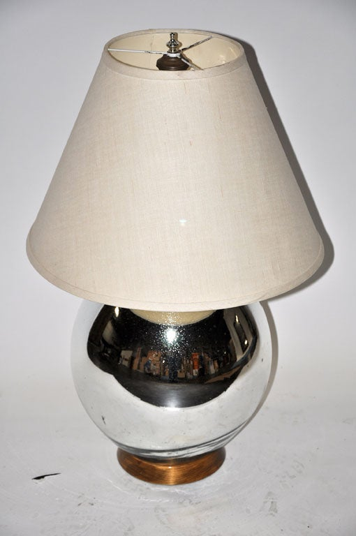 Bruce Eicher Mercury Glass Table Lamp For Sale At 1stdibs