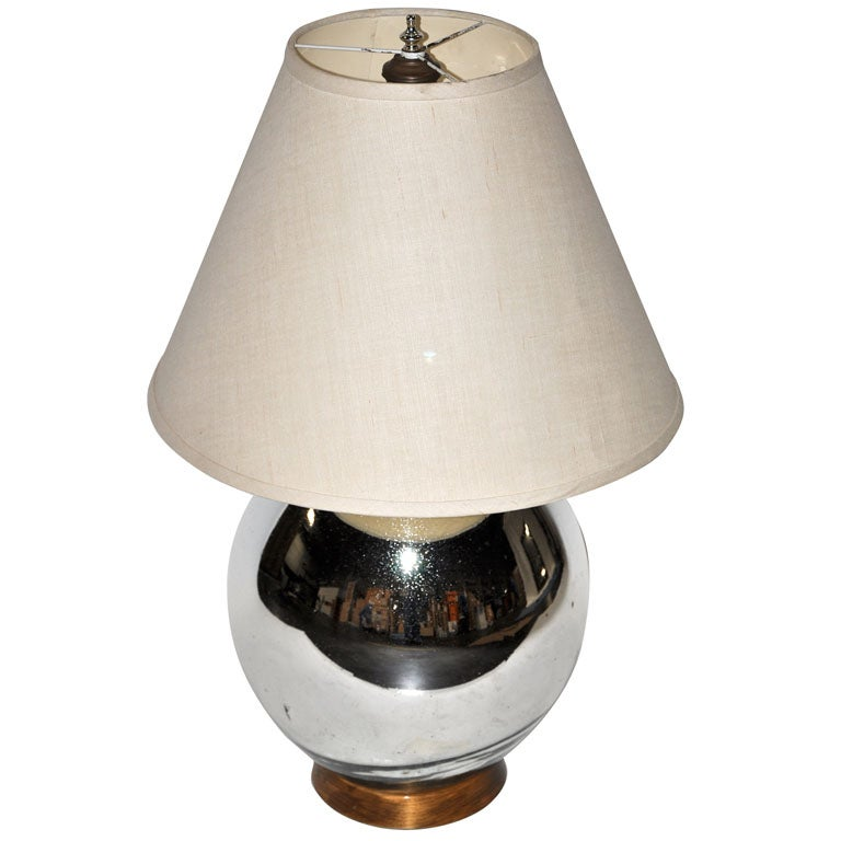 Bruce Eicher Mercury Glass Table Lamp For